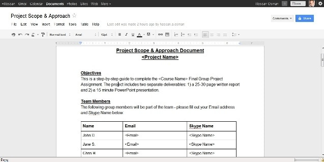 how to manage a small virtual project using free online tools, Presentation templates