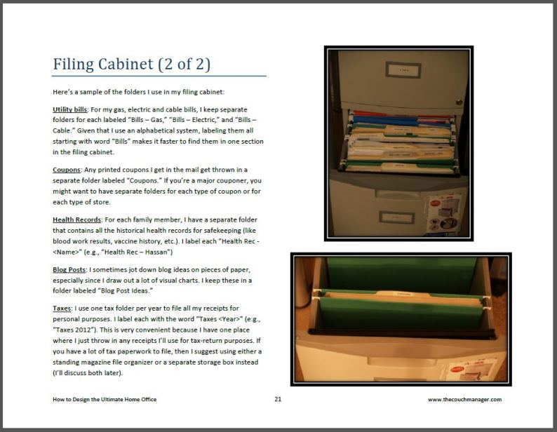 Home Office Couch Manager Filing Cabinet Page