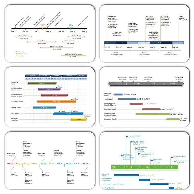 Ganttopia PowerPoint Timeline Templates For Your Projects - Powerpoint timeline templates